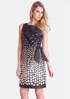 Tahari Degrade Dot Side Tie Sheath Dress (Regular & Petite)