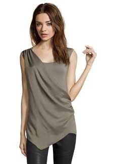 Tahari doe jersey knit and sateen 'Gracie' draped top