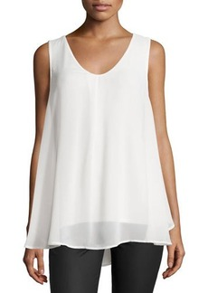 Tahari Eliza Sleeveless Layered Blouse