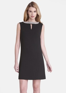 Tahari Embellished Crepe Shift Dress (Regular & Petite)