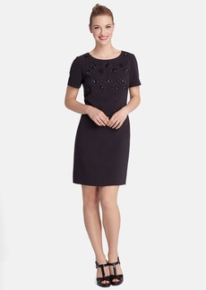 Tahari Embellished Shift Dress (Regular & Petite)
