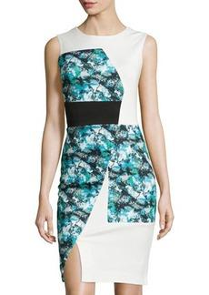 Tahari Everette Sleeveless Colorblock Dress