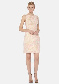 Tahari Floral Brocade Sheath Dress (Petite)