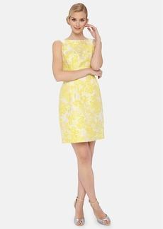 Tahari Floral Brocade Sheath Dress (Petite)