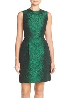 Tahari Floral Jacquard Sheath Dress (Regular & Petite)