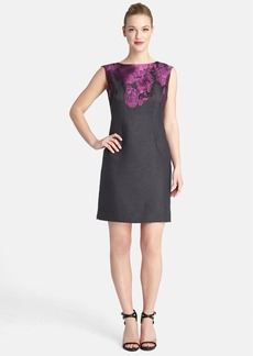 Tahari Floral Jacquard Sleeveless Sheath Dress (Regular & Petite)