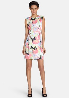 Tahari Floral Print Scuba Sheath Dress (Regular & Petite)