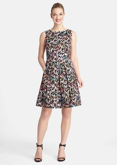 Tahari Floral Print Sleeveless Fit & Flare Dress (Regular & Petite)