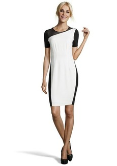 Tahari fresh pearl multi media 'Emory' colorblock sheath dress