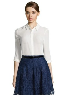 Tahari fresh pearl woven 'Brenda' button front blouse