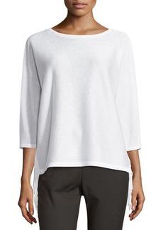 Tahari Fringe-Trim 3/4-Sleeve Sweater