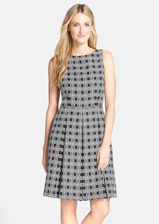 Tahari Geo Jacquard Fit & Flare Dress (Regular & Petite)