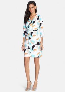 Tahari Graphic Print Faux Wrap Dress
