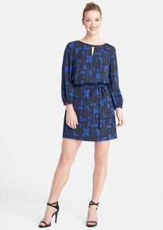 Tahari Graphic Print Keyhole Blouson Dress (Petite)
