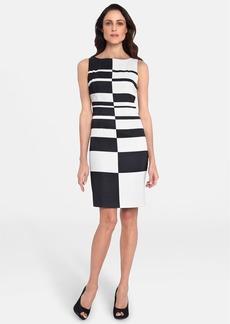 Tahari Graphic Print Sheath Dress
