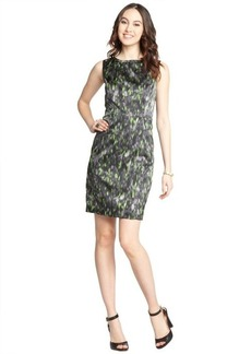 Tahari green printed 'Ketrina' shift dress