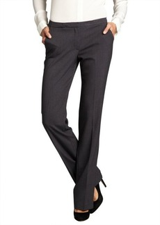 Tahari grey melange stretch knit 'Peyton' dress pants