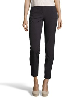 Tahari grey stretch blend 'Jillian' slim cropped pants