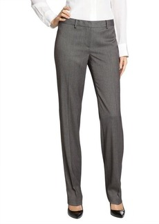 Tahari grey stretch blend 'Sloane' straight leg pants