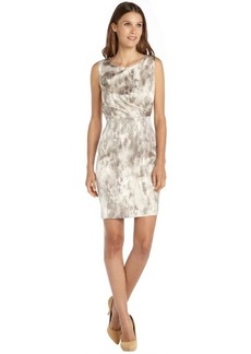 Tahari grey stretch woven snake printed 'Beverly' dress