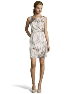Tahari grey stretch woven snakeskin printed 'Beverly' dress