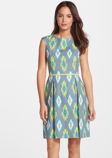 Tahari Ikat Linen Blend Fit & Flare Dress (Regular & Petite)