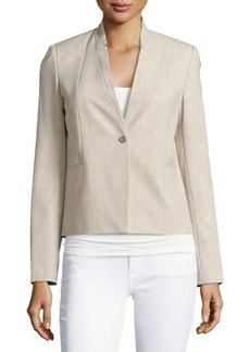 Tahari Inverted-Lapel One-Button Suit Jacket