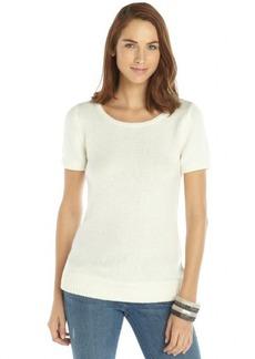 Tahari ivory knit short sleeve 'Gayle' sweater