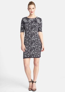 Tahari Jacquard Knit Body-Con Dress