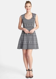 Tahari Jacquard Knit Fit & Flare Dress (Regular & Petite)