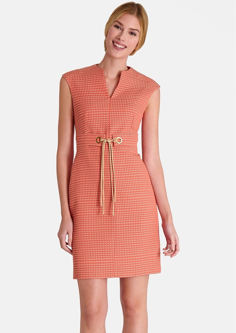 Tahari Jacquard Sheath Dress (Petite)