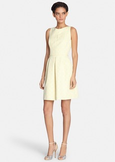 Tahari Keyhole Jacquard Fit & Flare Dress (Regular & Petite)