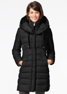 Tahari Knit-Collar Packable Down Coat