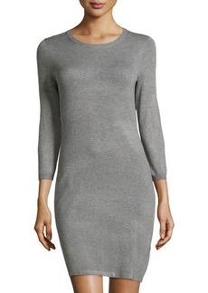 Tahari Knit Sweaterdress w/ Zip Back Detail