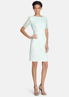 Tahari Lace & Jacquard Sheath Dress