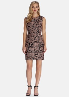 Tahari Lace Jacquard Sheath Dress (Regular & Petite)