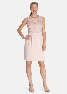 Tahari Lace Popover Dress (Regular & Petite)