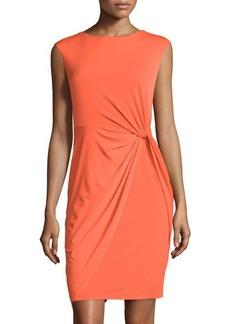 Tahari Laila Sleeveless Twisted-Waist Dress