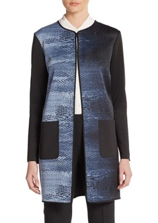 Tahari Larissa Printed Coat