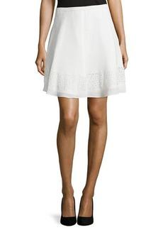 Tahari Laser-Cut A-Line Skirt