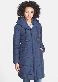 Tahari 'London' Hooded Down & Feather Walking Coat