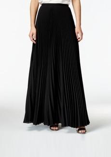 Tahari Long A-Line Pleated Skirt