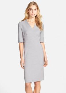 Tahari Mélange Woven Sheath Dress (Regular & Petite)
