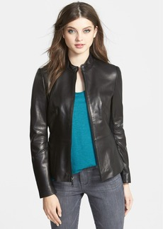 Tahari 'Marcille' Leather Scuba Jacket (Petite) (Online Only)