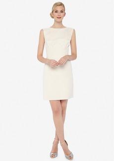 Tahari Metallic Jacquard Sheath Dress