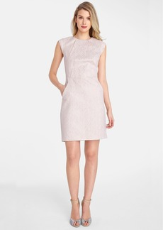 Tahari Metallic Jacquard Sheath Dress (Petite)