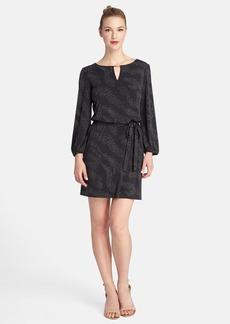 Tahari Metallic Jersey Belted Shift Dress