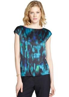 Tahari midnight dream 'Kristiana' short sleeve blouse
