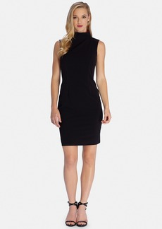 Tahari Mock Neck Sleeveless Sheath Dress (Regular & Petite)
