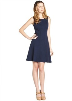 Tahari navy blue stretch sleeveless 'Penbrook' dress